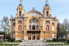 Lucian Blaga National Theatre em Cluj Foto de Stock