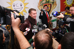 Lucian Bute at GRAN Balkans cup competition Royalty Free Stock Images