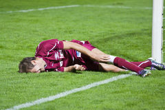 Lucian Dorin Raduta Injured in Cup Match Stock Images