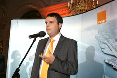 Lucian Mandruta. News presenter, talk-show moderator, columnist Royalty Free Stock Photos