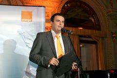 Lucian Mandruta. News presenter, talk-show moderator, columnist Stock Photo