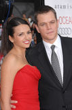 Luciana Barroso, Matt Damon photos libres de droits