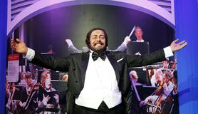 Luciano Pavarotti, estatua de la cera, figura de cera, figura de cera fotos de archivo libres de regalías