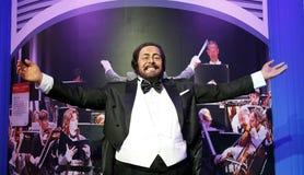 Luciano Pavarotti vaxstaty, vaxdiagram, waxwork Royaltyfria Foton