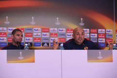 Luciano Spalletti and Bruno Peres Stock Photography