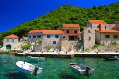 Lucica-Dorf auf Insel Lastovo, Kroatien Lizenzfreies Stockfoto