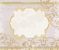 Lucid ornamental gold frame background Royalty Free Stock Photos