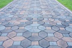 Lucidi il pavimento di pietra. Fotografie Stock