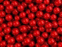 Lucido rosso delle palle Immagine Stock