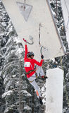 Lucie Hrozova climbing Stock Images