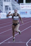 Lucie Skrobakova at athletics meeting in Prague Stock Image