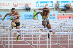 Lucie Skrobakova - 100 meter häckar Arkivfoton