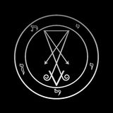 Lucifer的正式标志 免版税库存图片