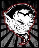 Lucifer, злой, сатанинский чертеж руки вектора демона иллюстрация вектора