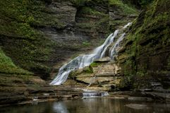 Lucifer Falls. Located in Ithaca NY, this stunning trail takes you through Robert Treman State Park. There are several styles of waterfalls which are stock photography