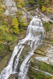 Lucifer Falls Autumn Cascade Stock Photo