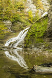 Lucifer Falls Autumn Refections Fotografia Stock Libera da Diritti