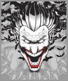 Lucifer ondska, demon, vektor för jokerhandteckning royaltyfri illustrationer