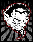 Lucifer, tekening van de kwaad, demonisch demon de vectorhand vector illustratie