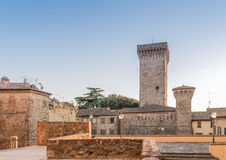 Lucignano. The ancient walls of the city of Lucignano in Tuscany Stock Photos