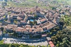 Lucignano in Toscanië Stock Afbeelding