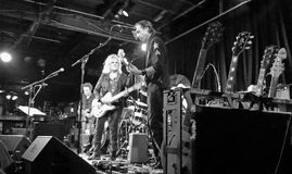 Lucinda Williams live. The Coachhouse. Lucinda Williams and band playing in San Juan Capistrano, CA. at the Coach House on May, 3 2015. The 600 capacity show Stock Images