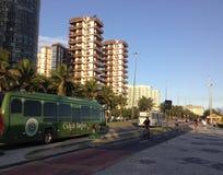 Lucio Costa Avenue en Barra da Tijuca Imagen de archivo