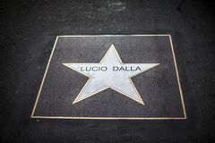 Lucio dalla star. A lucio dalla's memorial star in a street of bologna Stock Image