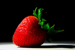 Lucious, ripe, red , juicy strawberry Royalty Free Stock Images