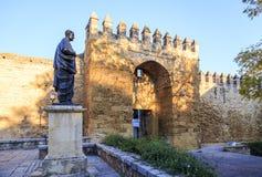 Lucius Annaeus塞内卡,科多巴,西班牙 图库摄影