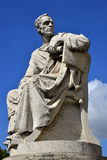Lucius Licinius Crassus. great orator of Ancient Rome. Marble Statue of an roman orator with blue sky Stock Photo