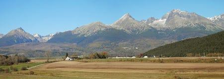 从Lucivna全景观看的高Tatras 库存图片