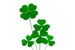 Luck. Clover four leafs, luck and fortune stock illustration