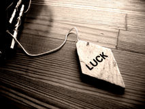 Luck. Pendant with Luck inscription on it Stock Photo