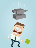 Luck and bad luck. Funny illustration of luck and bad luck Royalty Free Stock Images