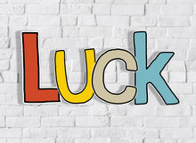 Luck Brick Wall Text Background Clean Concept Royalty Free Stock Photo