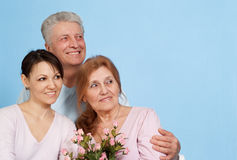Luck Caucasian elderly woman Royalty Free Stock Photography