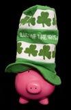 Luck of the irish piggy bank Royalty Free Stock Photos