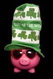 Luck of the irish piggy bank Stock Image