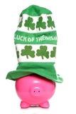 Luck of the Irish piggy bank Stock Photo