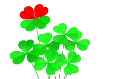 Luck and love. White background royalty free illustration