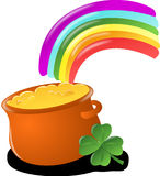 Luck, Rainbow, Gold, Pot Royalty Free Stock Photo
