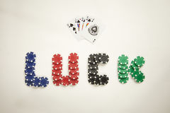 Luck With A Royal Flush Royalty Free Stock Image