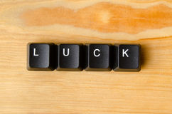 Luck word Stock Photography