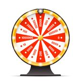 Luck wortine weel turning lottery layerd 3d isolated vector illustration. Luck wortine weel turning lottery layerd isolated 3d vector illustration Stock Photography
