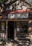 Luckenbach Texas Post Office Arkivbild