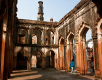 LUCKNOW, INDIA: Old walls of Lucknow Residency built in mughal style Royalty Free Stock Photos
