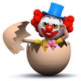 luckor för clown 3d från ett ägg Arkivbilder