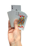 Lucky ace. My Lucky Ace, ready to help me royalty free stock photo