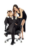 Lucky Attractive Business Couple Royalty Free Stock Images